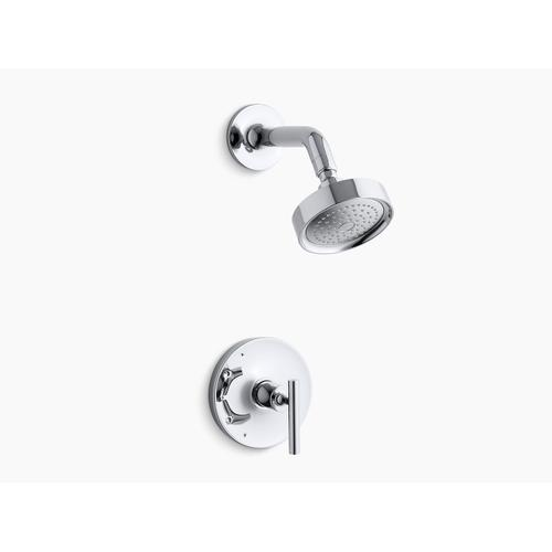 Kohler - Vibrant Brushed Moderne Brass Rite-temp Shower Trim With Lever Handle and 2.5 Gpm Showerhead