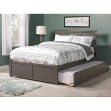 Madison Full Flat Panel Foot Board with Urban Trundle Atlantic Grey