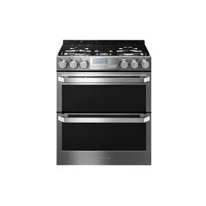 LgLG SIGNATURE 6.9 cu.ft. Smart wi-fi Enabled Gas Double Oven Slide-In Range with ProBake Convection®