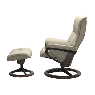 See Details - Stressless® Mayfair (L) Signature chair with footstool