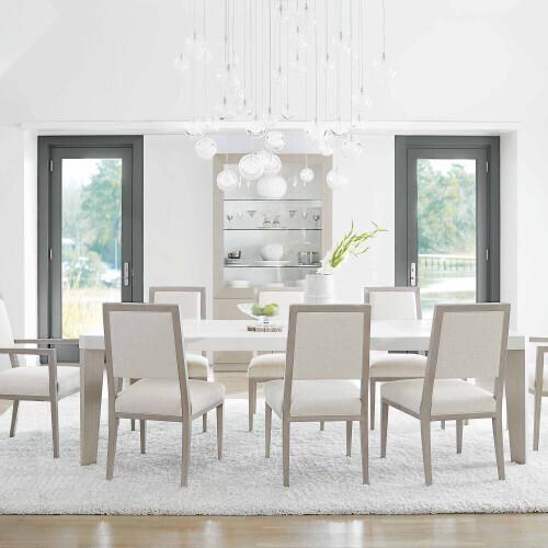 Bernhardt - Axiom Side Chair in Linear Gray (381)