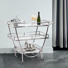See Details - Stainless Steel Bar Cart on Castors