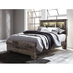 Derekson Full Bed W/Bookcase Headboard Multi Gray