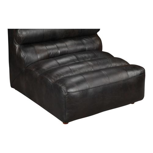 Moe's Home Collection - Ramsay Leather Armless Chair Antique Black