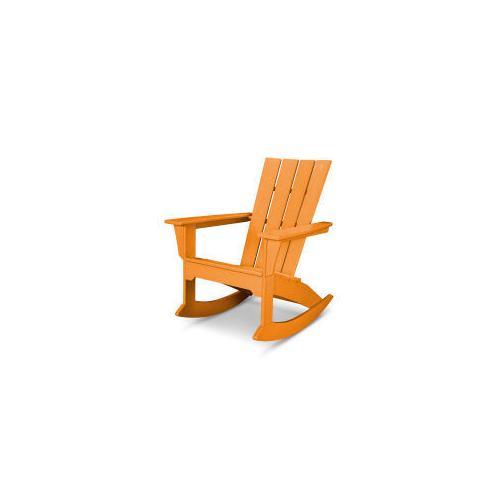 Polywood Furnishings - Quattro Adirondack Rocking Chair in Tangerine