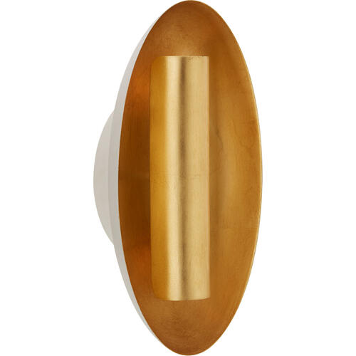 Barbara Barry Aura 2 Light 7 inch Plaster White Sconce Wall Light, Medium Oval