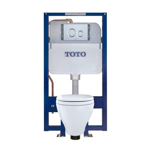 Aquia® Wall-Hung Toilet & DUOFIT™ In-Wall Tank System, 1.6 GPF & 0.9 GPF, Elongated Bowl - Matte Silver