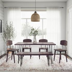 """See Details - Nature's Edge 60"""" Dining Table W/(4) Chairs"""