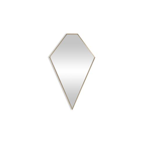 Diamond Wall Mirror Brass 25 x 44 inch