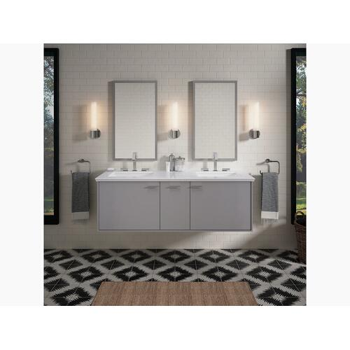 """Biscuit Expressions 61"""" Vanity-top With Double Verticyl Rectangular Cutout"""