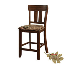 Monl Wood Back Counter Stool