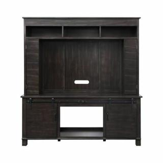 ACME Apison Entertainment Center w/Fireplace - 91630 - Farmhouse - Wood (Pine), Wood Veneer (Pine), MDF, Metal Hardware - Espresso