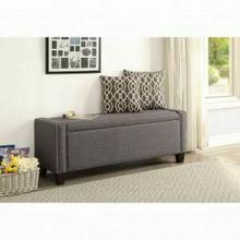 ACME Kelly Bench w/Storage - 96440 - Gray Linen