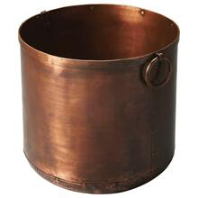 This distinctive planter is certain to be the finishing touch in your space. Featuring a copper finish, it is hand crafted from iron.