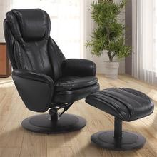 Norway Recliner & Ottoman in Black Air Leather