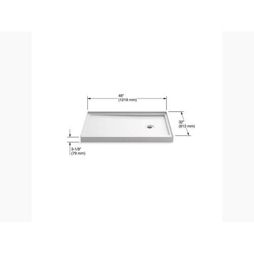 """Kohler - White 48"""" X 32"""" Single-threshold Shower Base With Right-hand Drain"""
