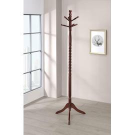 Traditional Merlot Twisted Post Coat Rack