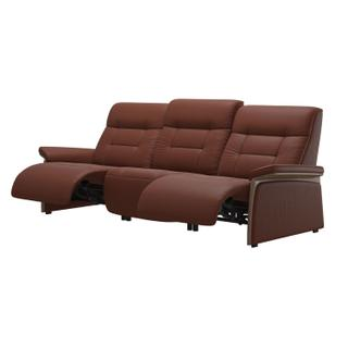 See Details - Stressless® Mary 3 seater with 2 motors arm wood