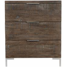 Haines Nightstand in Sable Brown, Gray Mist