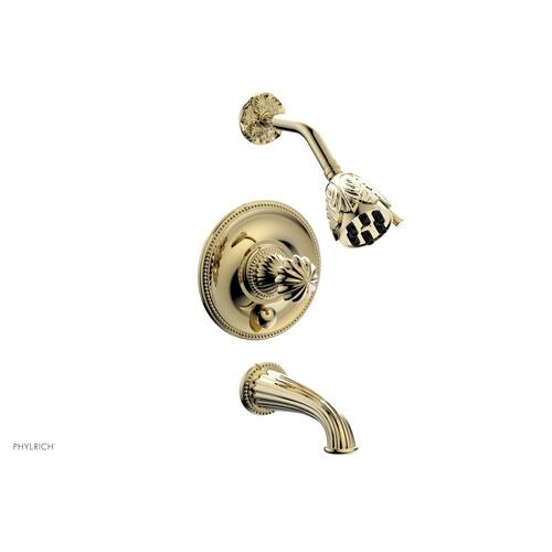 GEORGIAN & BARCELONA Pressure Balance Tub and Shower Set PB2361 - Polished Brass Uncoated