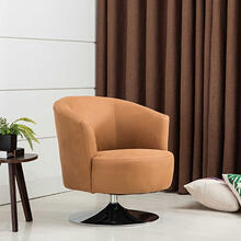 See Details - Twist Accent Chair in Bark Fabric