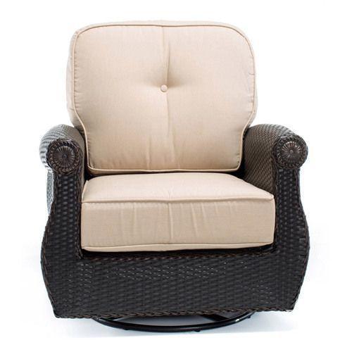 Breckenridge Swivel Rocker w/ Natural Tan Cushion