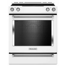 See Details - 30-Inch 5-Element Electric Convection Slide-In Range with Baking Drawer - White