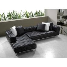 See Details - Divani Casa Jazz - Modern Tufted Leather Sectional Sofa