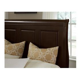 Sleigh Bed with Low Profile Footboard in Twin & Full