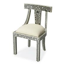 The combination of bone and wood make this traditional accent chair a stylish and durable seating platform, suitable to a plethora of spaces. This chair is ideal for anyone looking for quick and easy classic style. The chair looks great from any angle; th