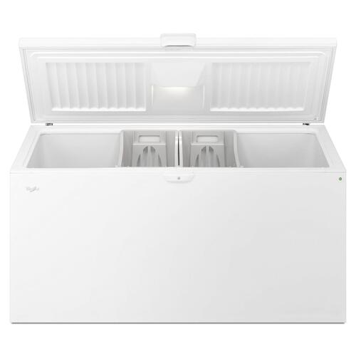 Whirlpool - 22 cu. ft. Chest Freezer with Extra-Large Capacity and Temperature Alarm White