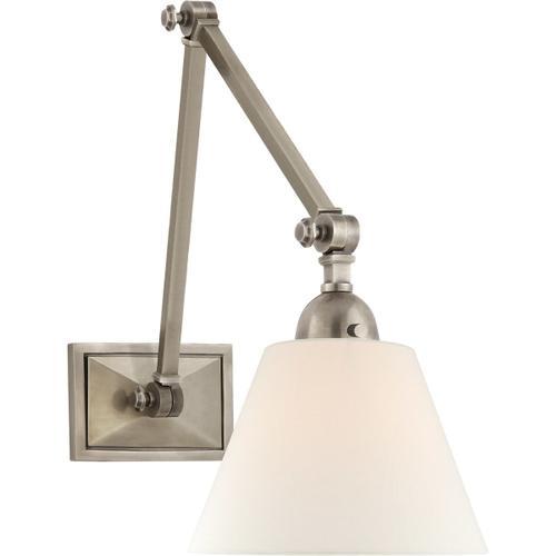 Alexa Hampton Jane 30 inch 40 watt Antique Nickel Double Library Wall Light