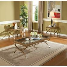 View Product - ACME Quintin 3Pc Pack Coffee/End Table Set - 80080 - Gold w/Brushed Bronze & Clear Glass
