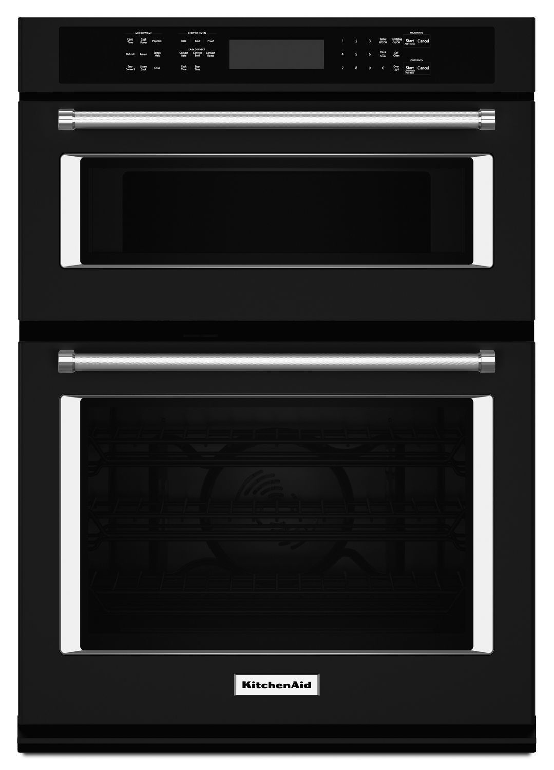 """Kitchenaid30"""" Combination Wall Oven With Even-Heat True Convection (Lower Oven) Black"""
