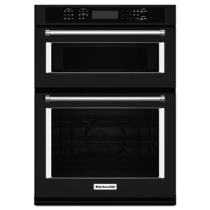 "KitchenAid30"" Combination Wall Oven with Even-Heat True Convection (Lower Oven) Black"