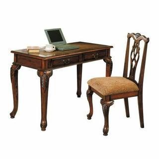 ACME Aristocrat 2Pc Pack Desk & Chair - 09650 - Dark Brown Cherry
