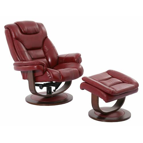 Parker House - MONARCH - ROUGE Manual Reclining Swivel Chair and Ottoman