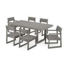 View Product - EDGE 7-Piece Dining Set in Slate Grey