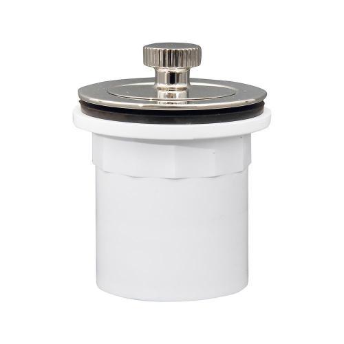 Lift u0026 Turn Tub Drain with PVC Adapter - Polished Nickel