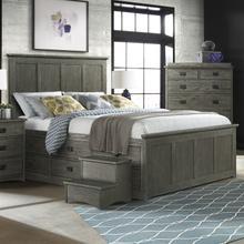 View Product - Oak Park Captains Bed  Pewter
