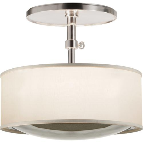 Visual Comfort - Barbara Barry Reflection 2 Light 15 inch Soft Silver Hanging Shade Ceiling Light