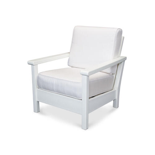 White & Natural Harbour Deep Seating Chair