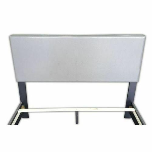 ACME Ireland III Queen Bed (Panel) - 24320Q - Gray PU