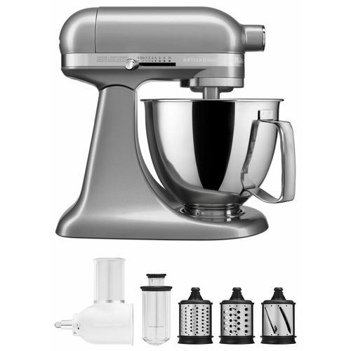 Gallery - Exclusive Artisan® Series Stand Mixer & Fresh Prep Attachment Set - Contour Silver
