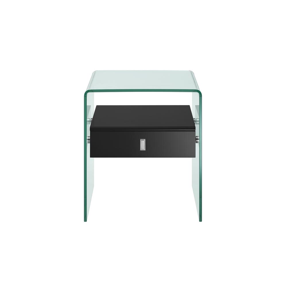 The Bari High Gloss Black Lacquer Nightstands