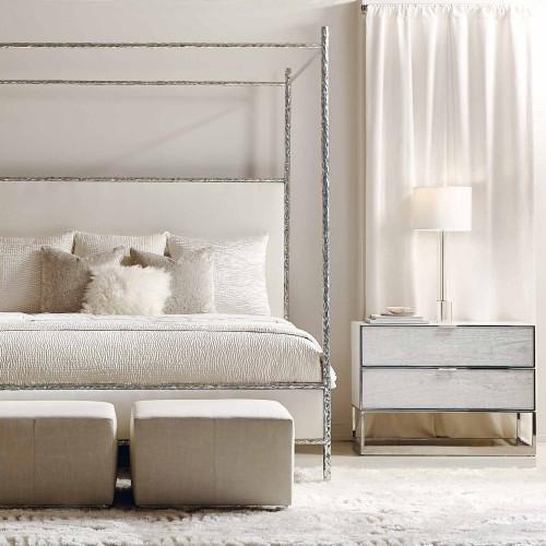 King-Sized Odette Upholstered Canopy Bed