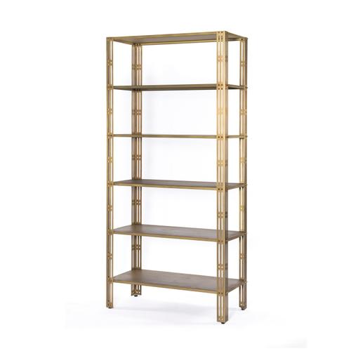 Elke Bookshelf-antique Brass