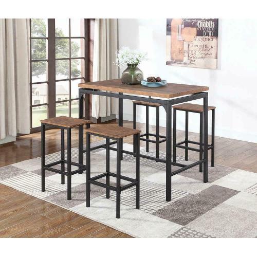 Coaster - Contemporary Chestnut Five-piece Bar Set