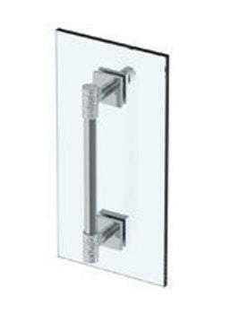"""Sense 18"""" Shower Door Pull With Knob / Glass Mount Towel Bar With Hook Product Image"""