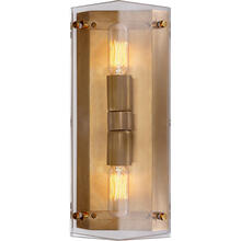 AERIN Clayton 2 Light 5 inch Crystal Wall Sconce Wall Light